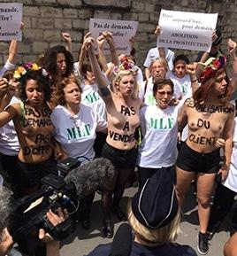 MLF et FEMEN contre la prostitution