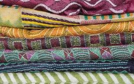 Kantha : soleil de soie Art textile du Bengale