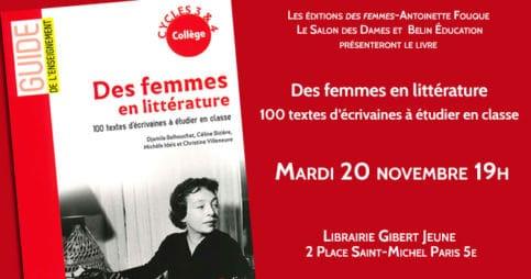 Des femmes en littérature