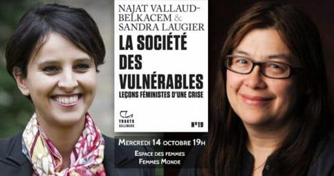 Najat Vallaud-Belkacem et Sandra Laugier