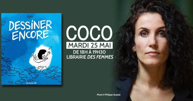 Coco, Dessiner encore, à la librairie des femmes