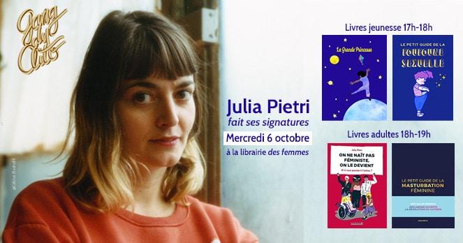Julia Pietri à la librairie des femmes
